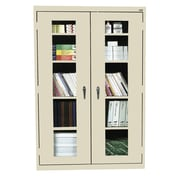 """Sandusky See Thru 78"""" Clearview Steel Storage Cabinet with 5 Shelves, Putty (EA4V462478-07)"""