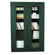 "Sandusky® See Thru 46"" x 24"" x 78"" Clearview Storage Cabinet, Forest Green"