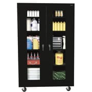 "Sandusky® See Thru 46"" x 24"" x 78"" Transport Mobile Clearview Storage Cabinet, Black"