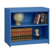 """Sandusky® Elite 36"""" x 18"""" x 30"""" Radius Edge Steel Stationary Bookcase, Blue"""
