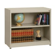 "Sandusky® Elite 36"" x 18"" x 30"" Radius Edge Steel Stationary Bookcase, Putty"