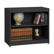 """Sandusky® Elite 36"""" x 18"""" x 30"""" Radius Edge Steel Stationary Bookcase, Black"""