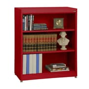 "Sandusky® Elite 36"" x 18"" x 42"" Steel Radius Edge Stationary Bookcase, Red"