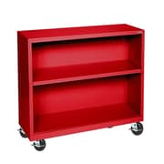 "Sandusky® Elite 36"" x 18"" x 36"" Welded Mobile Bookcase, Red"