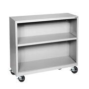"Sandusky® Elite 36"" x 18"" x 36"" Welded Mobile Bookcase, Dove Gray"