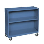 "Sandusky® Elite 36"" x 18"" x 36"" Welded Mobile Bookcase, Blue"