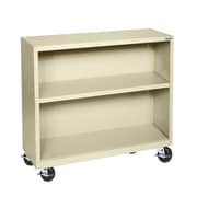 "Sandusky® Elite 36"" x 18"" x 36"" Welded Mobile Bookcase, Putty"