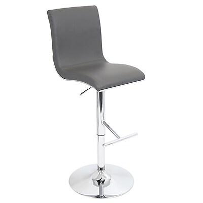 LumiSource® Spago Leatherette Barstool, Gray