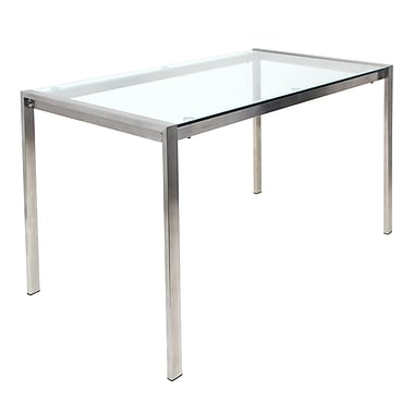 LumiSource® Fuji Glass Dinette Table, Clear