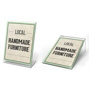 "Deflecto® Mini Slanted Plastic Tabletop Sign Holder , 4"" x 3"", 10/Pack"