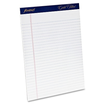 Ampad® Gold Fibre® Writing Pad 8-1/2x11-3/4