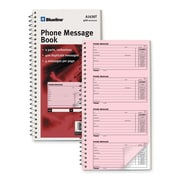 "Blueline Telephone Message Book, 10-3/4"" x 5-3/4"", 100 Sheets"