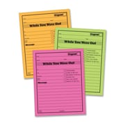 "Adams Neon ""While You Were Out"" Pads, 5"" x 4"", 6 per Pack"
