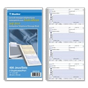 "Blueline Telephone Message Book, 2-3/4"" x 6"""