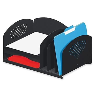 Safco – Ensemble de tablettes avec compartiment vertical et plateaux