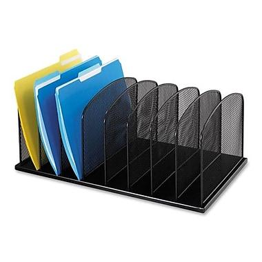 Safco Vertical Mesh Desk Organizer, 8 Compartments