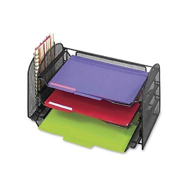 Safco – Range-tout de bureau en mailles avec plateaux coulissants