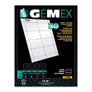 "Gemex Badge Holder Insert Cards, 2-1/2"" x 3-1/2"", 50 per Pack"