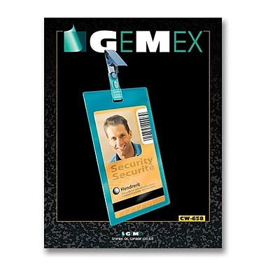 Gemex CW658 Security I.D Card Vertical Badge Holders, 2-1/4