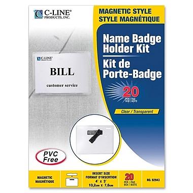 C-Line – Trousse de porte-nom, 3 x 4 po, 20/bte