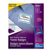 """Avery® Name Badge Adhesive Labels, 2-1/3"""" x 3-3/8"""", 400 per Box"""
