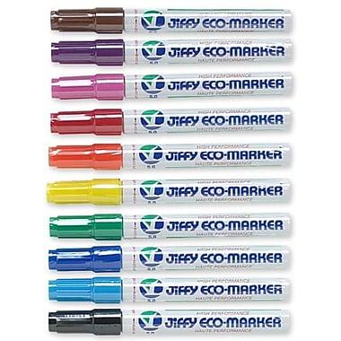 Jiffco – Marqueurs permanents rechargeables ECO Giant, 12 par boîte