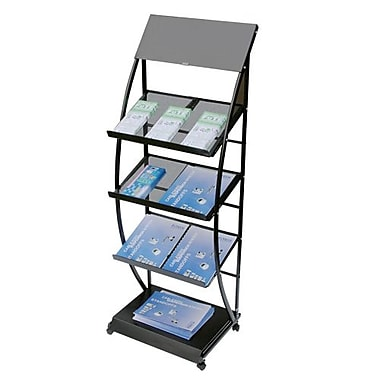 3-Tier Mesh Brochure/Magazine Rack, Black