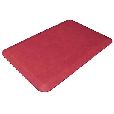 NewLife Designer Comfort Mat: 20x32 Leather Grain Cranberry