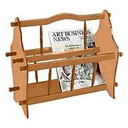 "Ore International® 14"" Wood Magazine Rack, Light Brown"