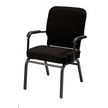 KFI Seating Fabric Arms Stack Chair, Black