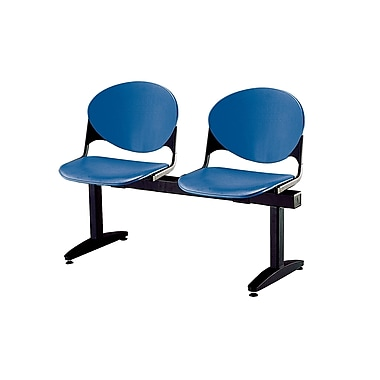 KFI Seating Polypropylene 2 Seat Beam Seating Chair, Navy Blue