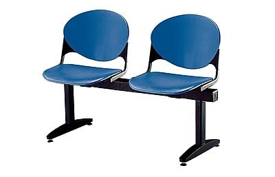 KFI Seating Polypropylene 2 Seat Beam Seating Chair, Navy Blue
