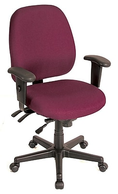 Eurotech Seating Fabric Computer and Desk Office Chair, Burgundy, Adjustable Arm (49802ABURG)