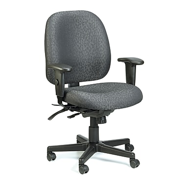 Eurotech Seating 49802ACHAR Fabric Mid-Back Task Chair with Adjustable Arms, Charcoal