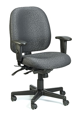 Raynor Eurotech Fabric 4 x 4 Multi-function Task Chair, Charcoal