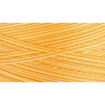 Natural Cotton Thread Variegated, Sunrise Sunset Yellow, 3,281 Yards