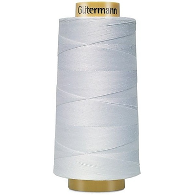 Natural Cotton Thread Solids, White, 3,281 Yards