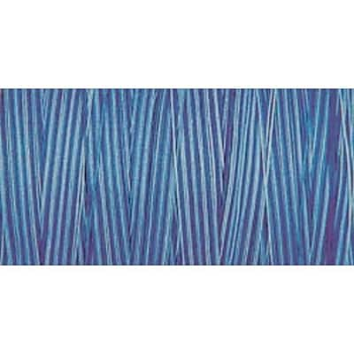Natural Cotton Thread Variegated, Blue Awakening, 876 Yards