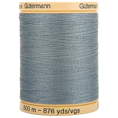 Natural Cotton Thread Solids, Stormy Grey, 876 Yards