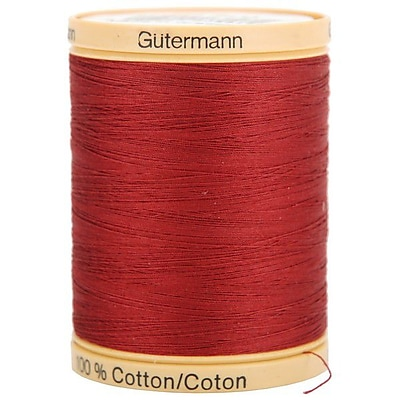 Natural Cotton Thread Solids, Raspberry, 876 Yards