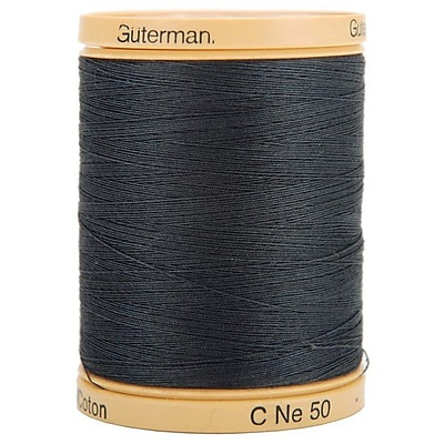 Natural Cotton Thread Solids, Iron Grey, 876 Yards