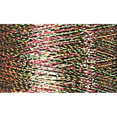 Sulky Metallic Thread, Multi- Cranberry, Gold & Pine Green