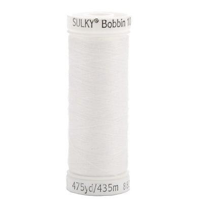 Sulky Bobbin Thread 60 Weight, White, 475 Yards