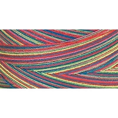 Star Mercerized Cotton Thread Variegated, Over The Rainbow, 1200 Yards
