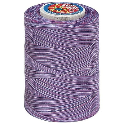 Star Mercerized Cotton Thread Variegated, Plum Shadows, 1200 Yards