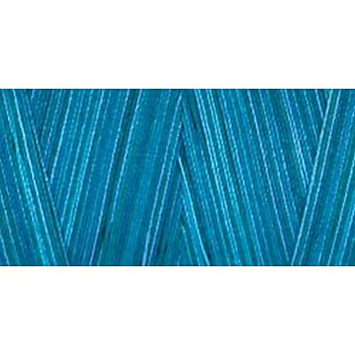 Star Mercerized Cotton Thread Variegated, Deep Ocean, 1200 Yards