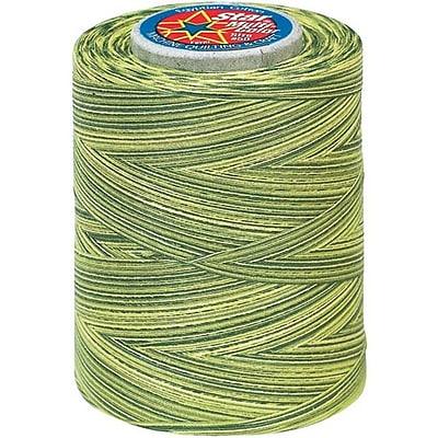 Star Mercerized Cotton Thread Variegated, Spring Greens, 1200 Yards