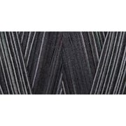 Star Mercerized Cotton Thread Variegated, Black Pinstripes, 1200 Yards
