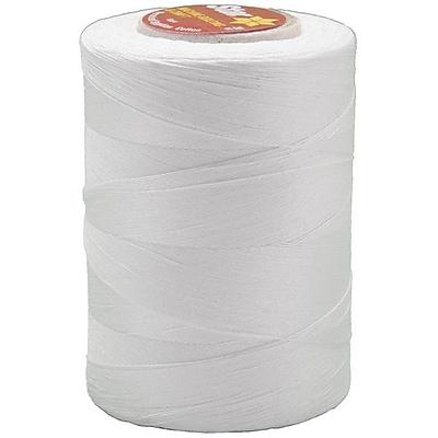 Star Mercerized Cotton Thread Solids, White, 1200 Yards