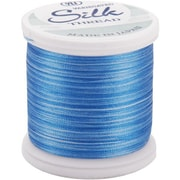 Silk Variegated Thread, Variegated Blues, 200 Meters